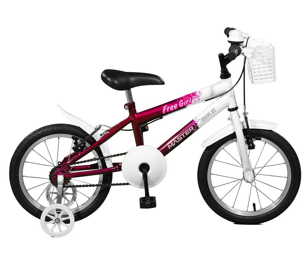Bicicleta aro 16 Free Girl Aro 16 Violeta/Branco Master Bike