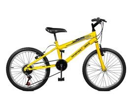 Bicicleta Aro 20 Ciclone Plus 7 Marchas Aro 20 Amarelo Master Bike
