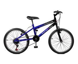 Bicicleta aro 20 Ciclone Plus 7 Marchas Aro 20 Azul/Preto Master Bike