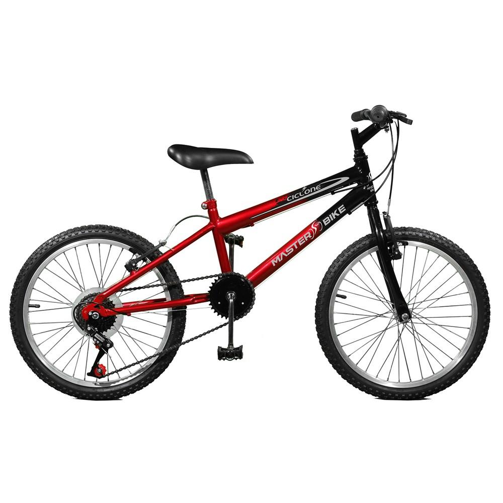 Bicicleta Aro 20 Ciclone Plus 7 Marchas Aro 20 Vermelho/preto Master Bike