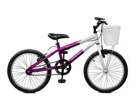Bicicleta aro 20 Serena Aro 20 Violeta/Branco Master Bike