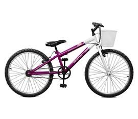 Bicicleta aro 24 Serena Aro 24 Violeta/Branco Master Bike