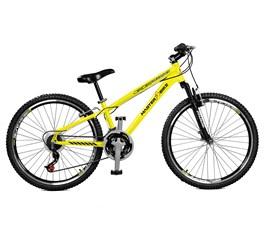 Bicicleta aro 26 Free Rider S A-36 21 M Aro 26 Amarelo Neon Master Bike