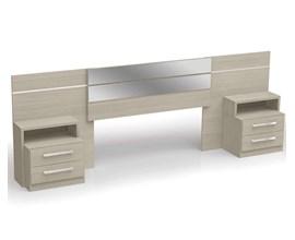 Cabeceira Para Box com Criado Mudo Amêndoa B290 Kappesberg