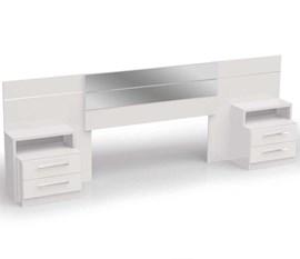 Cabeceira para Box com Criado Mudo Branco B290 Kappesberg