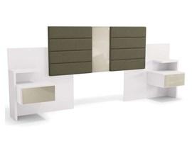 Cabeceira Para Box com Criado Mudo Branco G290 Kappesberg