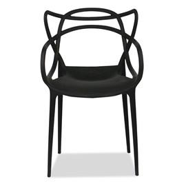 Cadeira Allegra Preta Casa Aberta Brasil