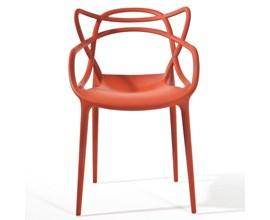 Cadeira Allegra Vermelha Casa Aberta Brasil