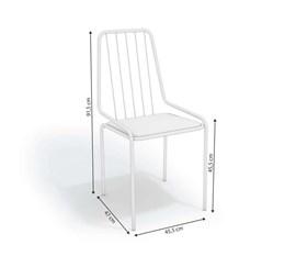 Cadeira Benim Crome Cromado/Branco Kappesberg