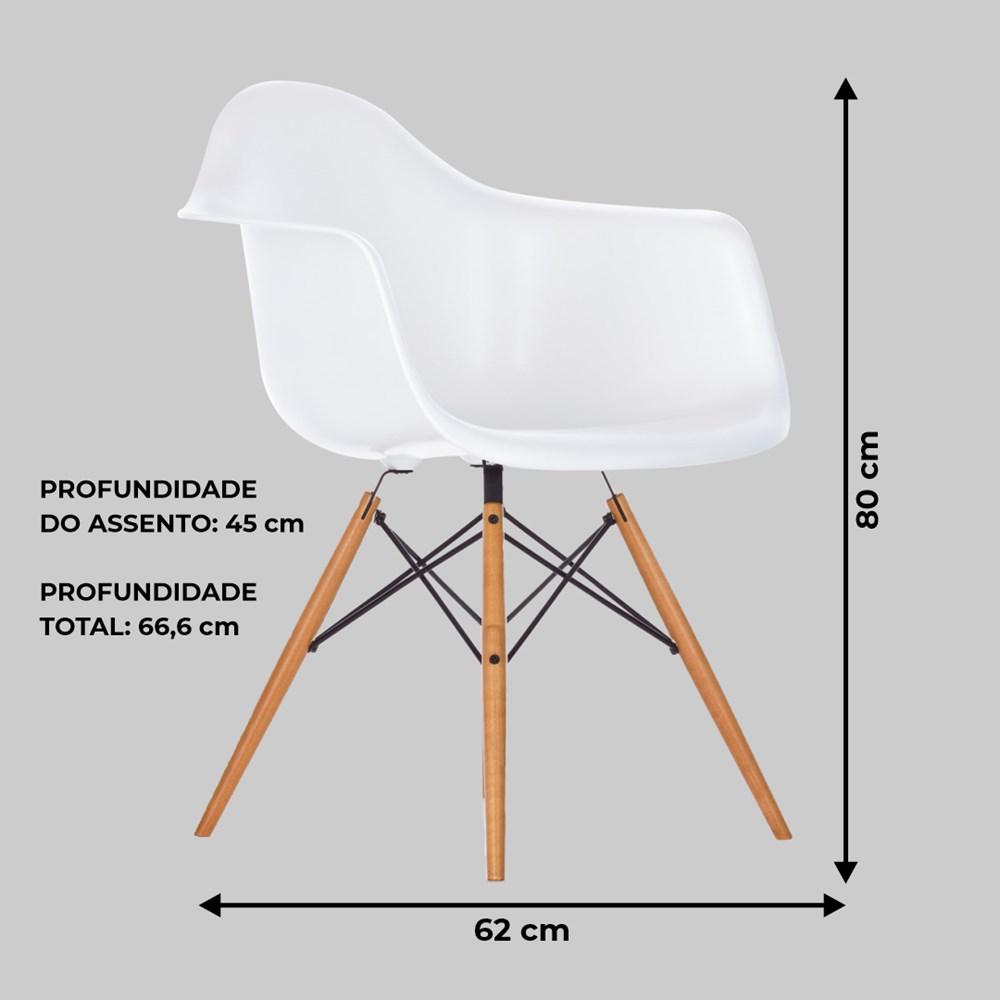 Cadeira Charles Eames com braço Branca