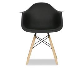 Cadeira Charles Eames com Braço Preta