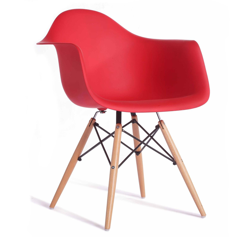 Cadeira Charles Eames com Braço Vermelha