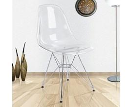 Cadeira Charles Eames Eiffel Policarbonato Transparente