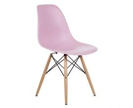 Cadeira Eames Eiffel com Base de Madeira Rosa Casa Aberta Brasil
