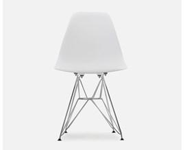 Cadeira Eames Eiffel Com Pés Metálicos Branca Casa Aberta Brasil