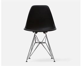Cadeira Eames Eiffel Com Pés Metálicos Preta Casa Aberta Brasil