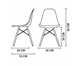 Cadeira Eames Eiffel Infantil Preta com Base de Madeira
