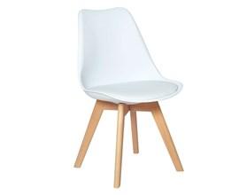 Cadeira Eames Leda Branca com Base Madeira Casa Aberta Brasil