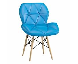 Cadeira Eiffel Slim Estofada Azul Notável