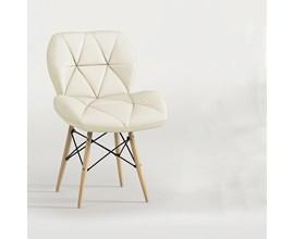 Cadeira Estofada Slim Eiffel Bege Notável Móveis