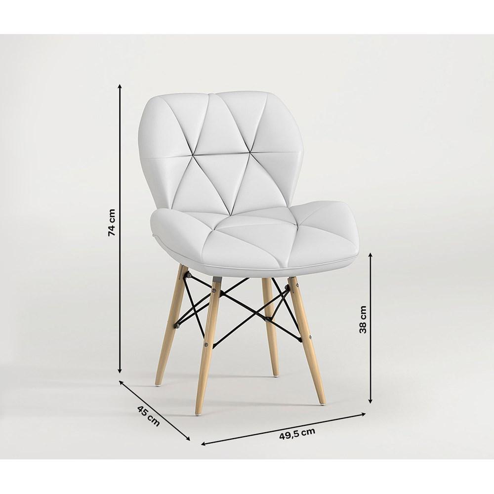 Cadeira Estofada Slim Eiffel Branca Notável Móveis