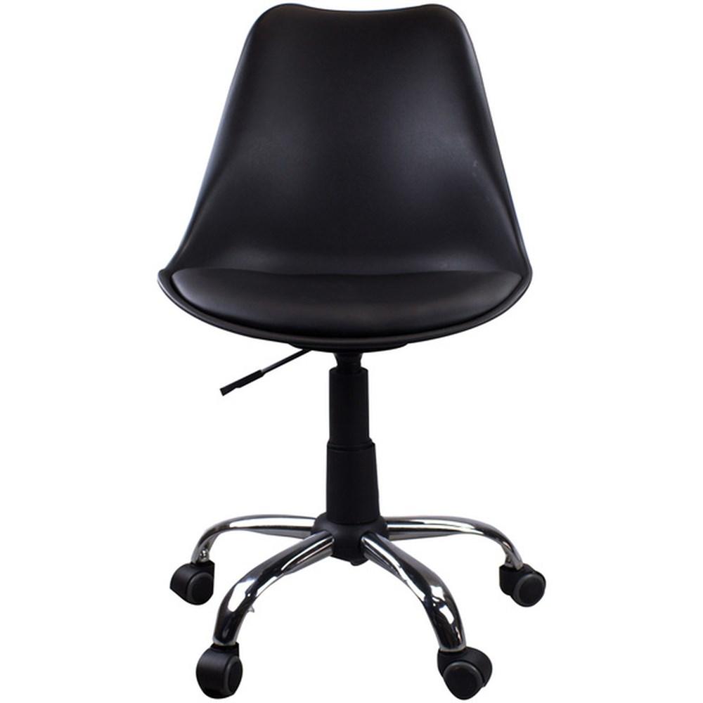 Cadeira Giratória Para Escritório Eames Leda Preta Casa Aberta Brasil