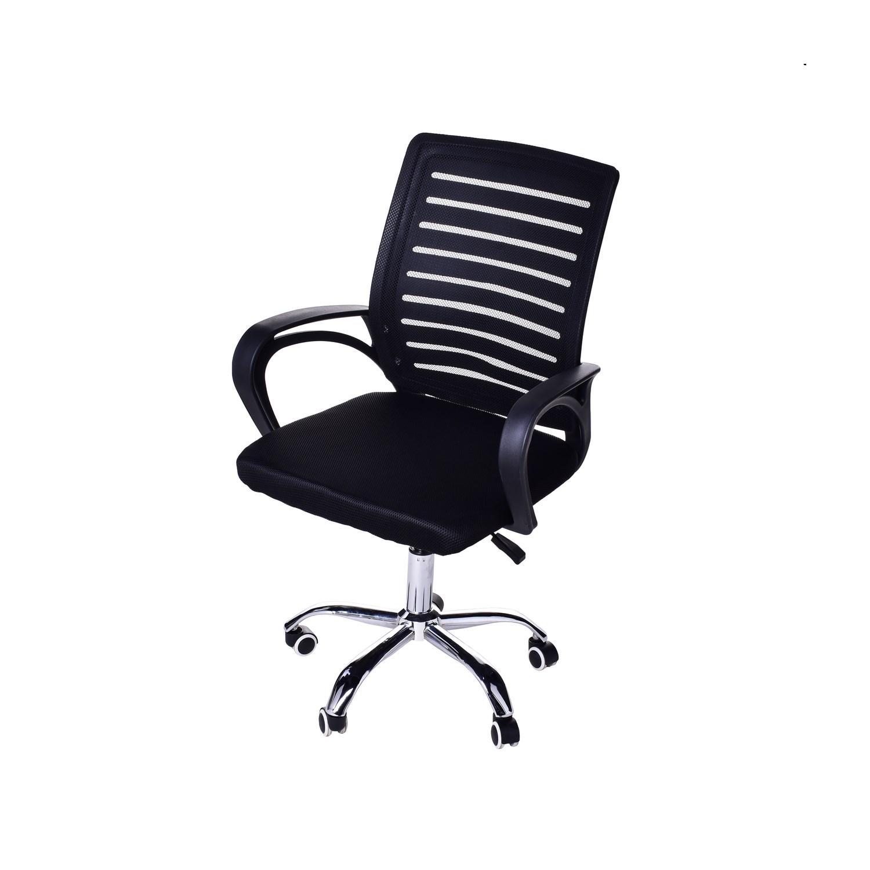 Cadeira Giratória Para Escritório HB-010 Preta Casa Aberta Brasil