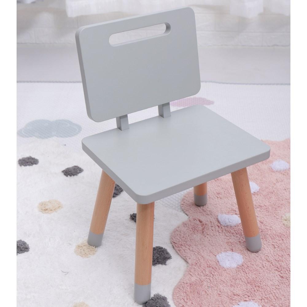 Cadeira Infantil Cinza SC-C Casa Aberta Brasil