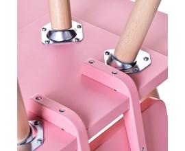 Cadeira Infantil Quadrada Rosa Amoudi Móveis