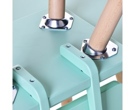 Cadeira Infantil Quadrada Verda Água Amoudi Móveis