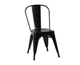 Cadeira Iron Tolix Preta Casa Aberta Brasil