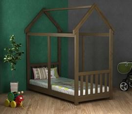 Cama Infantil Montessori 100 Castanho Móveis Saraiva