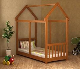 Cama Infantil Montessori Castanho R Madeira Maciça Móveis Saraiva