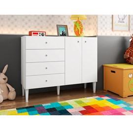 Cômoda 4 Gavetas E 2 Portas Meu Fofinho Branco CM4060 Art in Móveis