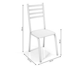 Conjunto 2 cadeiras Alemanha Crome Cromado com Assento Branco Kappesberg