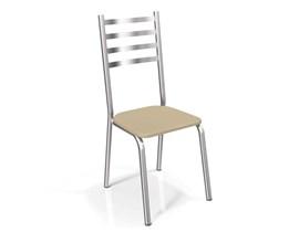 Conjunto 2 cadeiras Alemanha Crome Cromado com Assento Nude Kappesberg