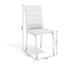 Conjunto 2 Cadeiras Amsterdã Crome Cromado com Assento e Encosto Branco Kappesberg
