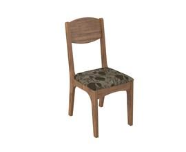 Conjunto 2 Cadeiras de Jantar Assento Estofado 100% Mdf Ca12 Nobre/chenille Floral Marron Dalla Cost