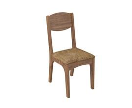 Conjunto 2 Cadeiras de Jantar Assento Estofado 100% Mdf Ca12 Nobre / Chenille Marrom Dalla Costa