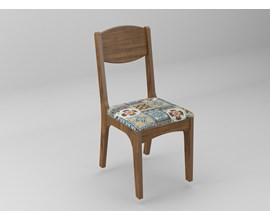 Conjunto 2 Cadeiras de Jantar Assento Estofado 100% Mdf Ca12 Nobre/ladrilho Dalla Costa