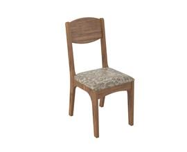 Conjunto 2 Cadeiras de Jantar Assento Estofado 100% MDF CA12 Nobre/Veludo Milano Dalla Costa