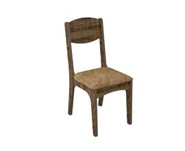 Conjunto 2 Cadeiras de Jantar Assento Estofado 100% Mdf Ca12 Rústico/chenille Marrom Dalla Costa