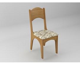 Conjunto 2 Cadeiras de Jantar Assento Estofado 100% Mdf Ca18 Freijó/floral Claro Dalla Costa