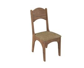 Conjunto 2 Cadeiras de Jantar Assento Estofado 100% Mdf Ca18 Nobre / Chenille Marrom Dalla Costa