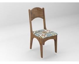Conjunto 2 Cadeiras de Jantar Assento Estofado 100% MDF CA18 Nobre/Ladrilho Dalla Costa