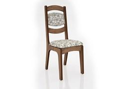 Conjunto 2 Cadeiras de Jantar Encosto Alto Estofada 100% MDF CA27 Nobre/Floral Claro Dalla Costa
