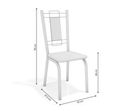 Conjunto 2 Cadeiras Florença Crome Cromado com Assento e Encosto Branco Kappesberg