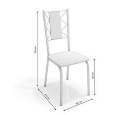 Conjunto 2 Cadeiras Lisboa Crome Preto Fosco/Preto Linho Cinza Kappesberg