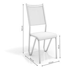 Conjunto 2 Cadeiras Londres Crome Cromado com Assento e Encosto Nude Kappesberg