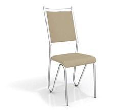 Conjunto 2 cadeiras Londres Crome Cromado/Nude Kappesberg